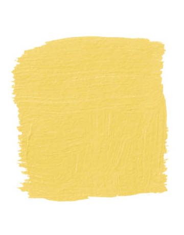 """""""In a guest room that seems a little staid, paint the bed. This is a Ming yellow like you see in Chinese silk robes, with a little lemon and mustard in it, which gives it more dimension."""" -Kim Alexandriuk Pictured, Farrow & Ball's Babouche 223"""