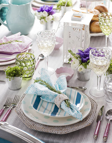 Easy brunch table settings beautiful table settings for Brunch table decorations