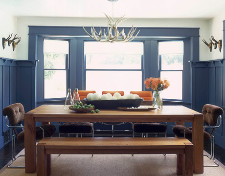 blue dining room - Personal Home Designer