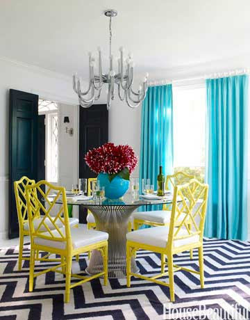 best new color combinations color combinations for 2015 - Colorful Modern Dining Room
