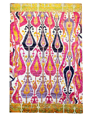 ikat rugs - colorful ikat patterned rugs