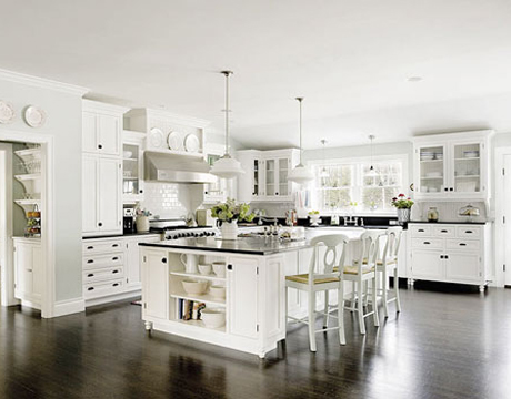 Kitchen inspiration apartment kitchen designs for Beautiful modern white kitchens