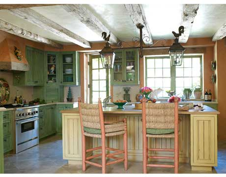 Country kitchen french country kitchen design for Country kitchen colors ideas