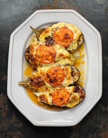 meat stuffed eggplants recipe - vefa alexiadou - greek recipes