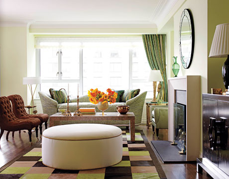drake 39 s design for a manhattan apartment in shades of green and blue