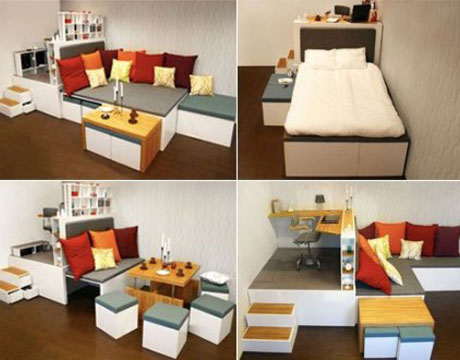 Modern Furniture for Small Spaces Small Space Decorating