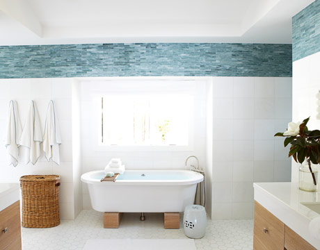 Blue Bathrooms relaxing blue bathroom decor - water inspired blue bathroom
