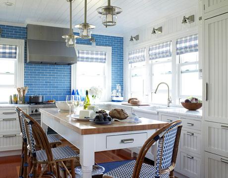 Blue Kitchen Decor Wall Tile Ideas