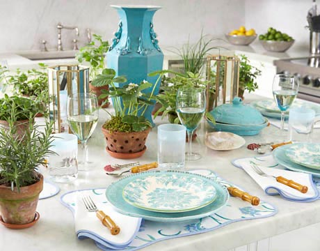 Tory Burch Table Setting Ideas