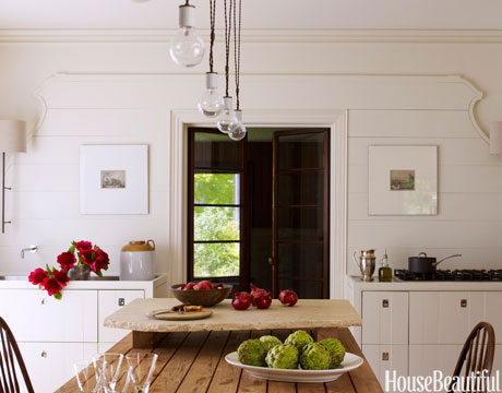 gable wall design kitchen - Farmhouse Kitchen Decorating Ideas