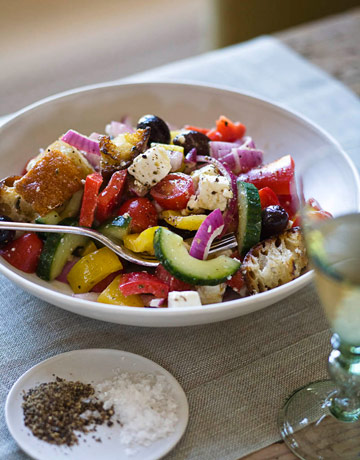 Roasted Tomatoes Ina Garten ina garten greek panzanella recipe - ina garten recipes