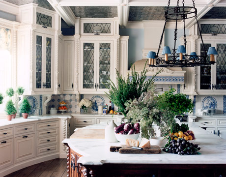 Blue And White Kitchen blue and white kitchen designs - pictures of old world kitchen
