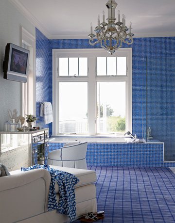 Blue bathrooms how to decorate blue bathrooms for Blue green bathroom ideas