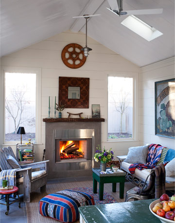 quirky fireplace - Eclectic Decor