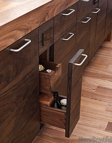 walnut cabinets - Modern Wood Kitchen Cabinets
