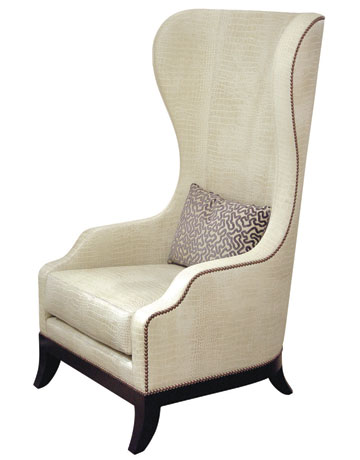 antique classic white high back chair - High Back Chairs For Living Room