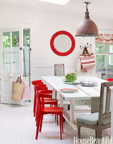 85  Best Dining Room Decorating Ideas and Pictures. Red Dining Chairs And Table. Home Design Ideas
