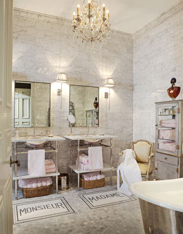 French bathroom style french bathroom decor - Chic french country inspired home real comfort and elegance ...
