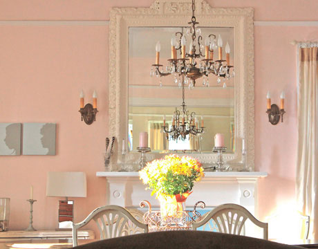 Dining Room With Pink Walls