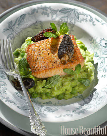 Salmon And Pea Risotto Recipe Tyler Florence Salmon And Risotto Recipe