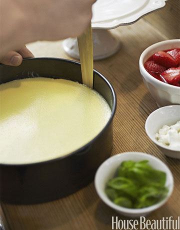 Tyler Florence Cheesecake how to make strawberry cheesecake - tips for making cheesecake