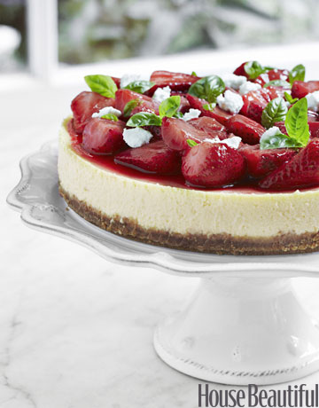 strawberrry cheesecake recipe - tyler florence goat cheese cake