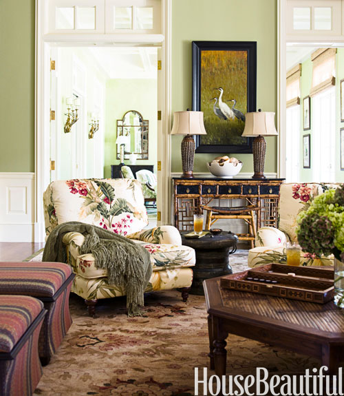 green living rooms in 2016 ideas for green living rooms - House Beautiful Living Room Colors