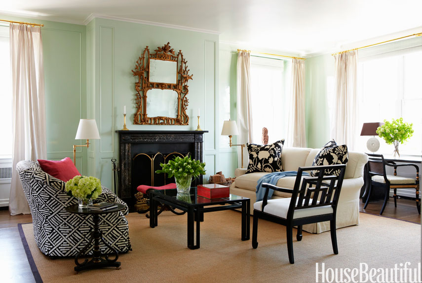 Bright Green Living Room