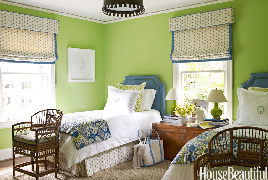joyful green bedroom - Green Bedroom Design