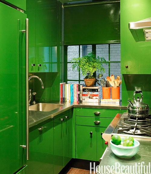 kitchen room green wallpaper - photo #8