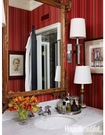 red bathroom decor ideas - red bathrooms