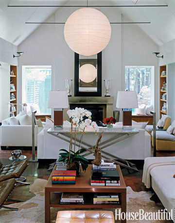 House Beautiful Living Room white living room ideas - white living rooms decor