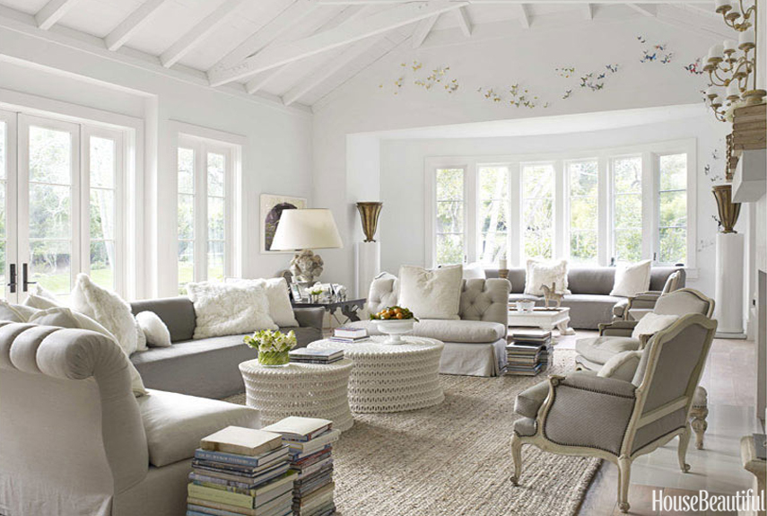 House Beautiful Decorating 10 Stylish Gray Living Room Ideas   Decorating Living  Rooms With Gray