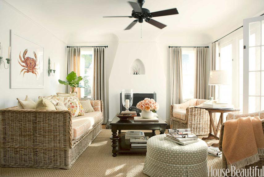 House Beautiful Decorating white living room ideas - white living rooms decor