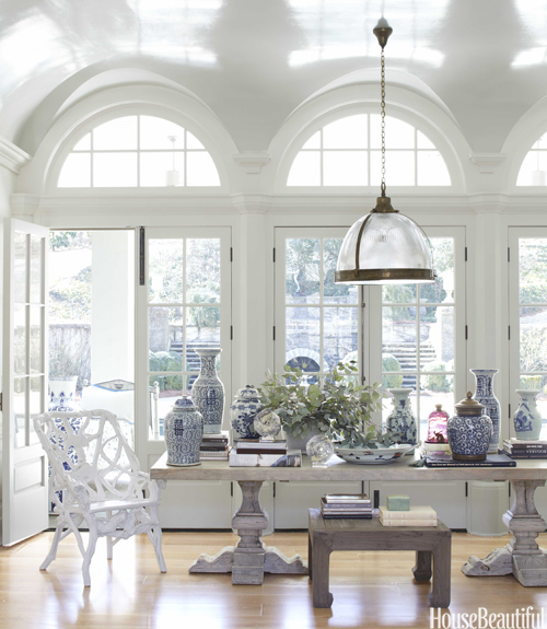 white dining room - House Beautiful Dining Rooms