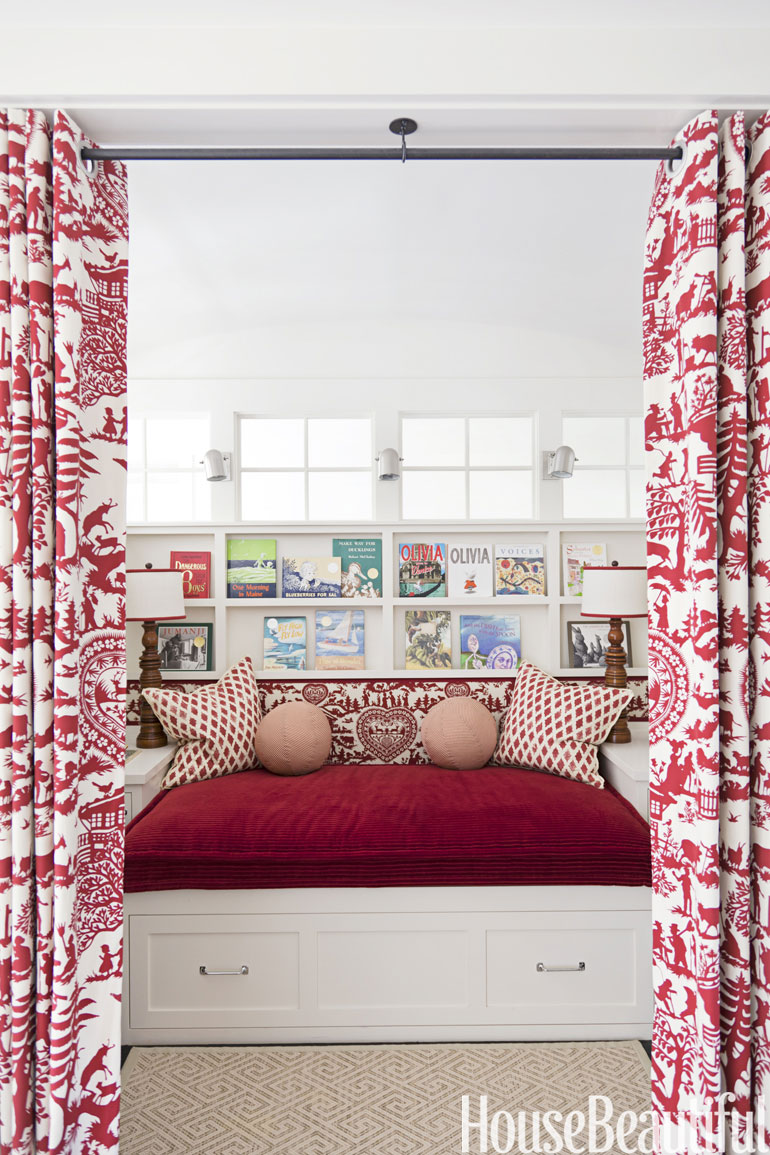 A curtained reading nook