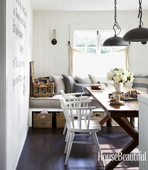 todays top pin is a dining room with nautical touches for more inspiring photos and ideas follow us on pinterest - House Beautiful Dining Rooms