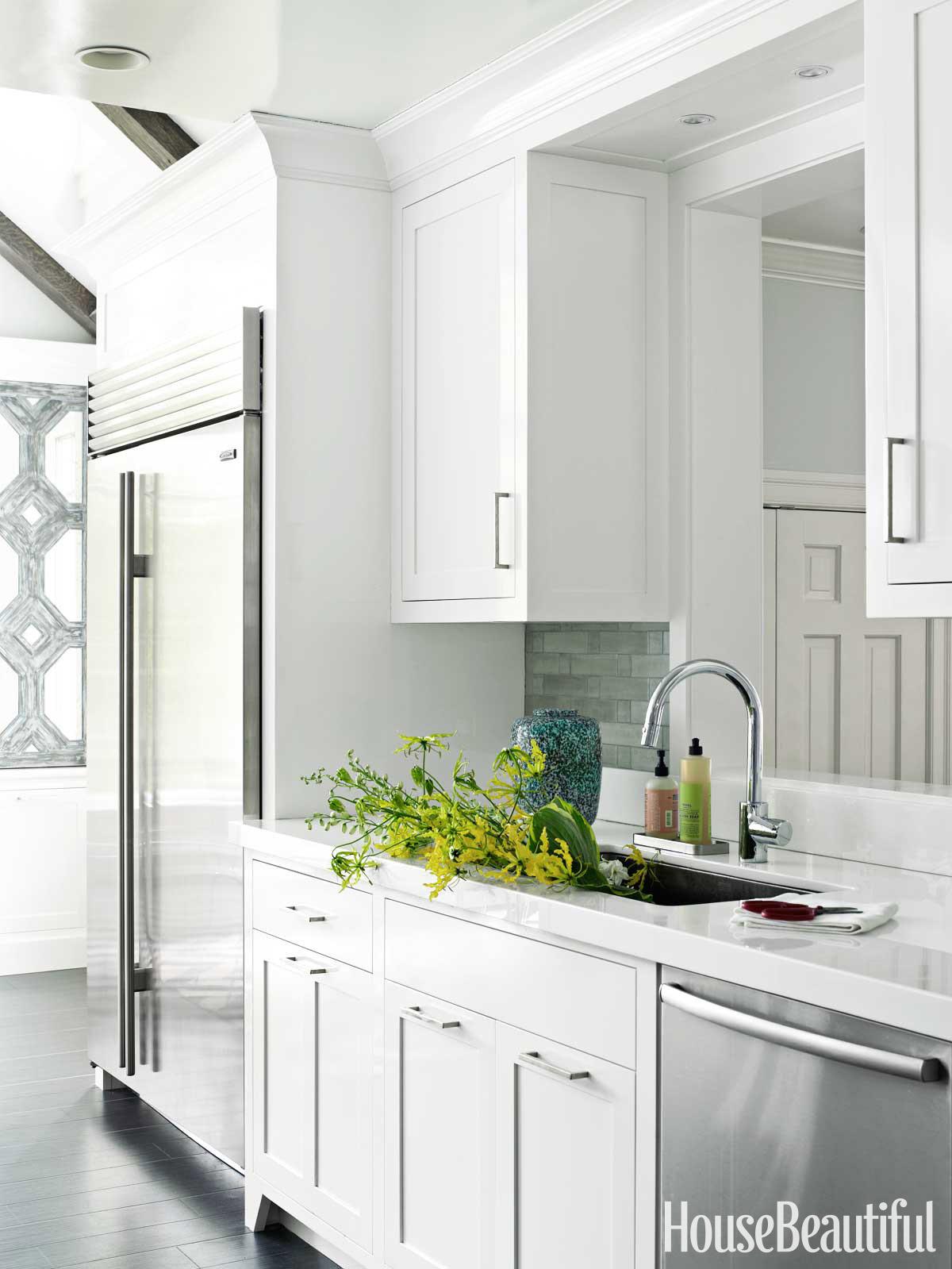 Louise brooks interview white kitchen design for Pass through kitchen ideas