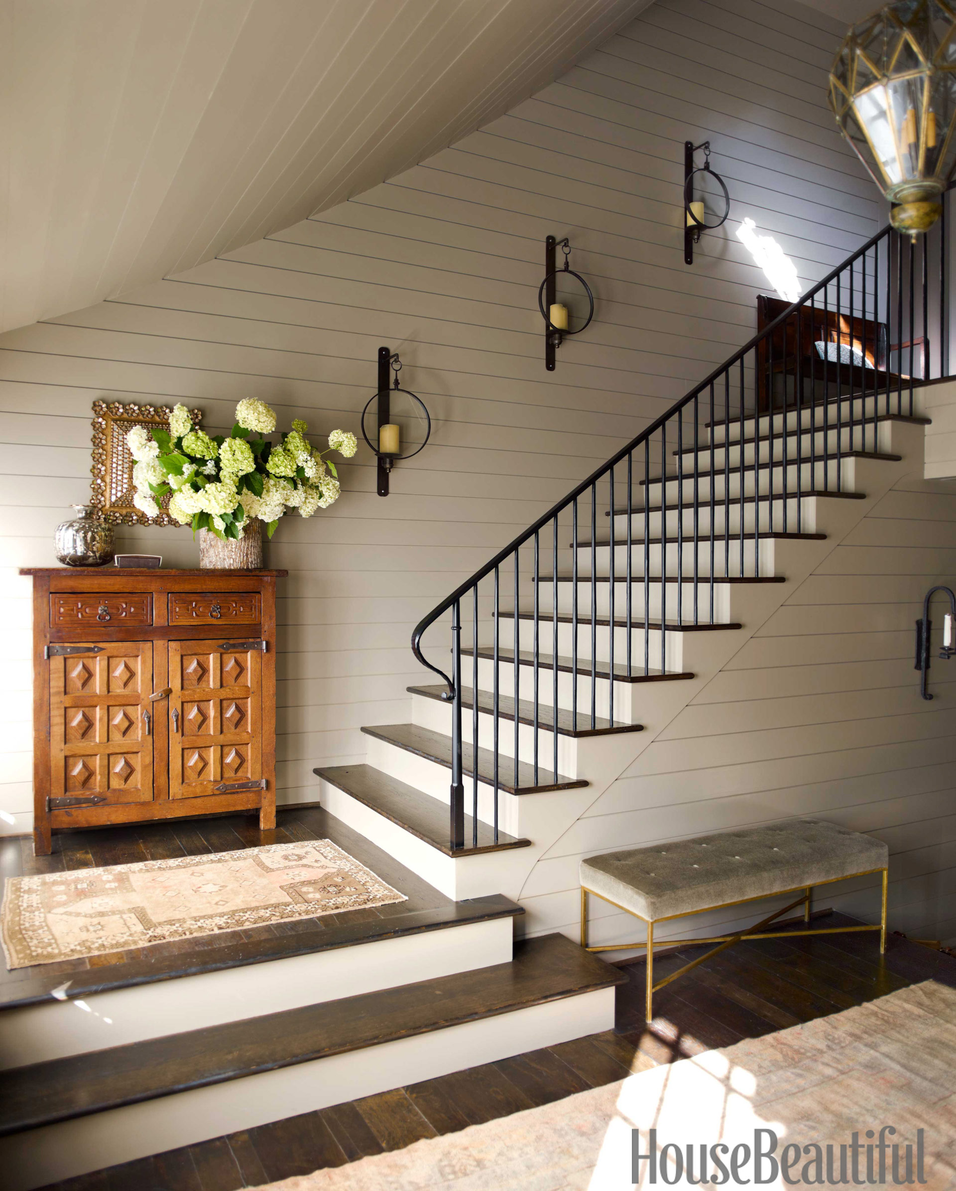 15 Residential Staircase Design Ideas: House Beautiful Pinterest