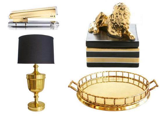 Black and gold home decor design blog links march 29 2013 Home decor gold