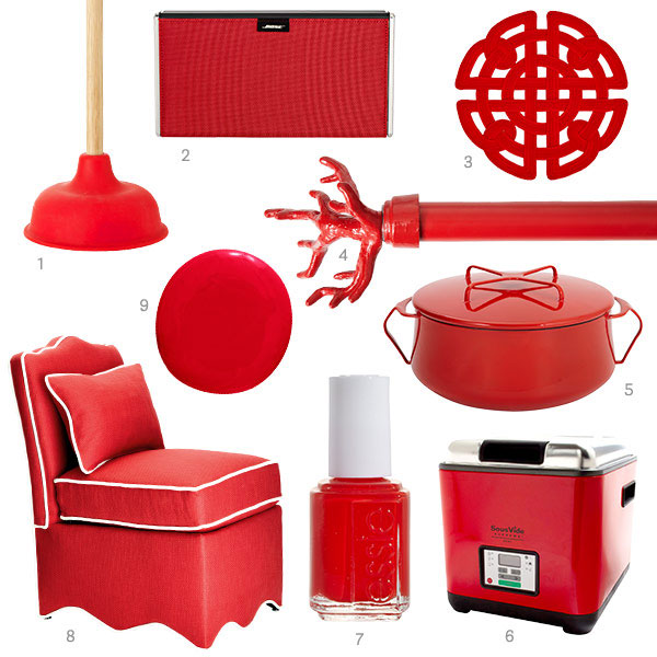 tomato red decor accessories