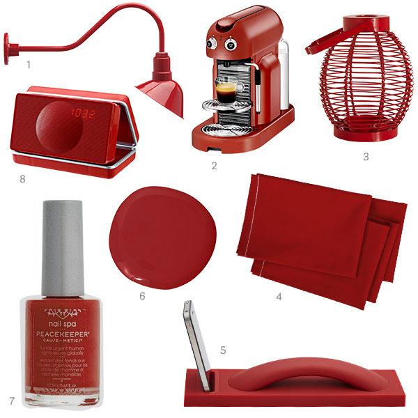 Crimson Red Home Decor