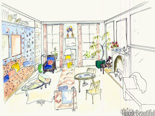 Sketch A Room room design sketch - interior designer sketches