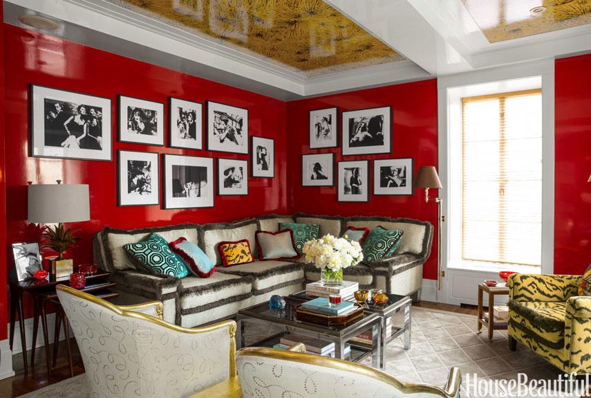 vibrant living room - philip gorrivan manhattan apartment
