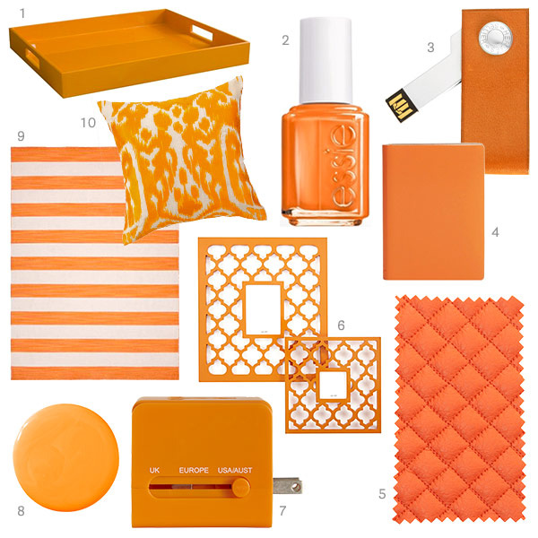 tangerine home decor orange home accessories