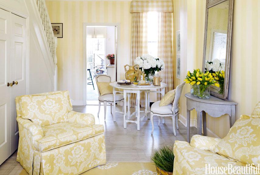Small  Georgetown Row House Mary Douglas Drysdale Interiors - Row house living room design