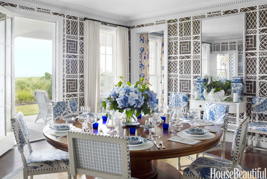 airy dining room - House Beautiful Dining Rooms