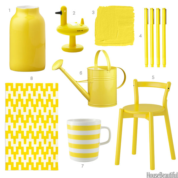 yellow home accessories - yellow home decor