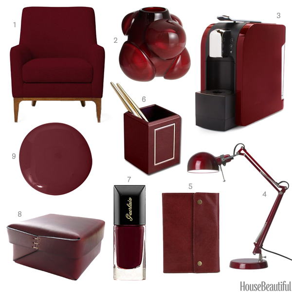 Wine Red Home Decor Dark Red Accessories