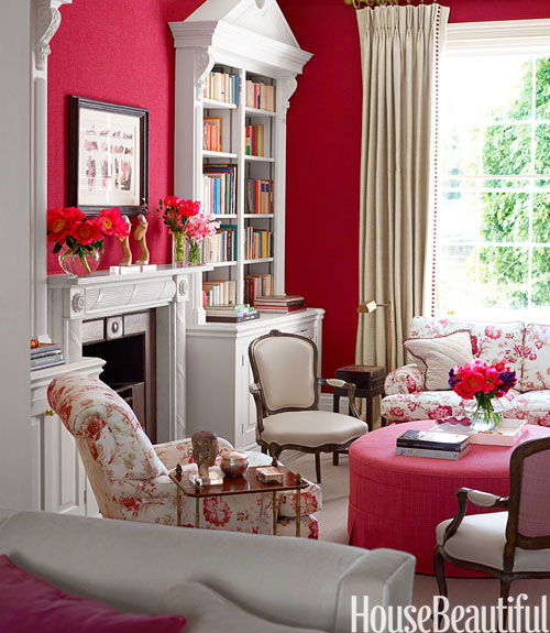 home library design ideas pictures of home library decor - House Beautiful Living Room Colors